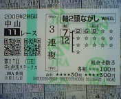 中山牝馬in<br />  新潟